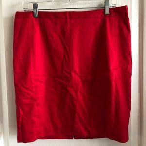 NWT Express - Midi Red Pencil Skirt